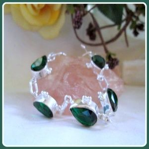 "Jewelry - ""Vision & Awareness"" Chrome Diopside Sterling Silv"
